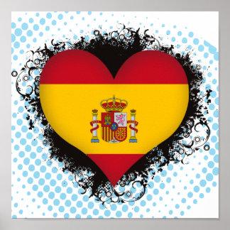 Vintage I Love Spain Print