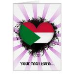 Vintage I Love Sudan Cards