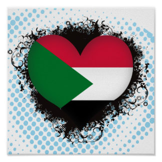 Vintage I Love Sudan Poster