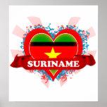 Vintage I Love Suriname Posters