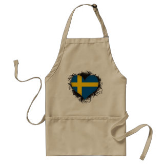 Vintage I Love Sweden Adult Apron