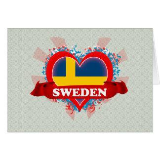 Vintage I Love Sweden Greeting Cards