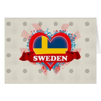 Vintage I Love Sweden Cards
