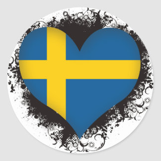 Vintage I Love Sweden Sticker