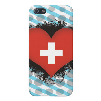 Vintage I Love Switzerland Cases For iPhone 5