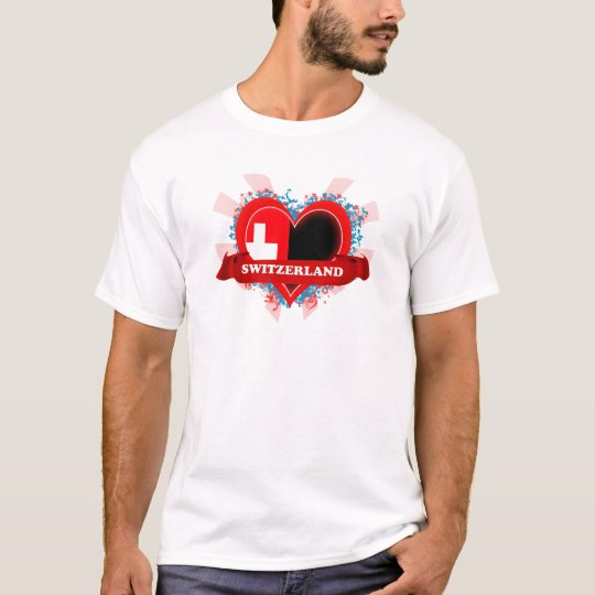 Vintage I Love Switzerland T-Shirt