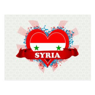 Vintage I Love Syria Post Card