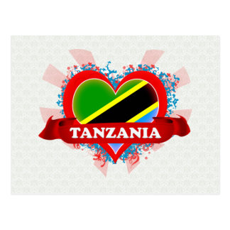 Vintage I Love Tanzania Postcards