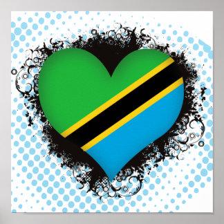 Vintage I Love Tanzania Poster