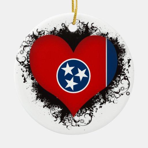 Vintage I Love Tennessee Ornaments