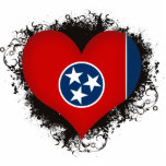 Vintage I Love Tennessee Photo Cut Out