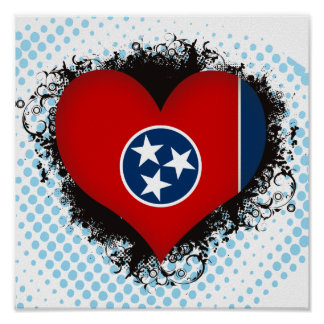 Vintage I Love Tennessee Poster