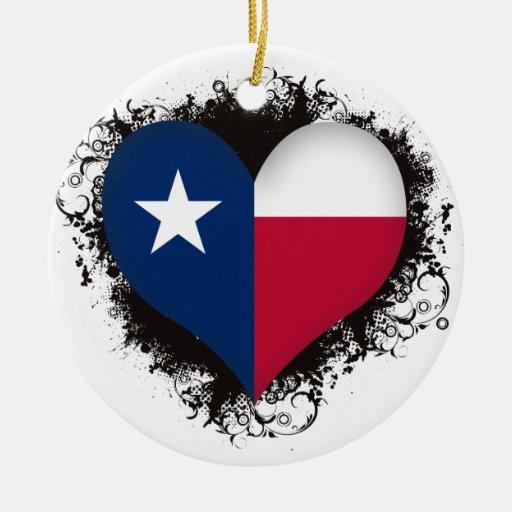 Vintage I Love Texas Christmas Ornament
