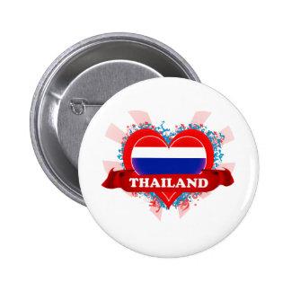 Vintage I Love Thailand Button