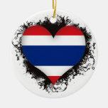 Vintage I Love Thailand Ornament