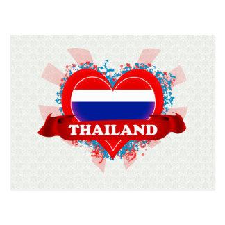 Vintage I Love Thailand Postcard