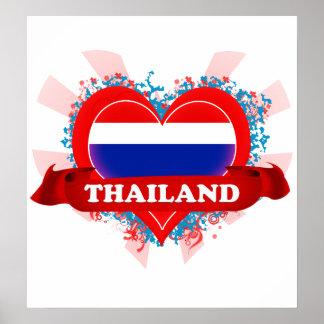 Vintage I Love Thailand Poster