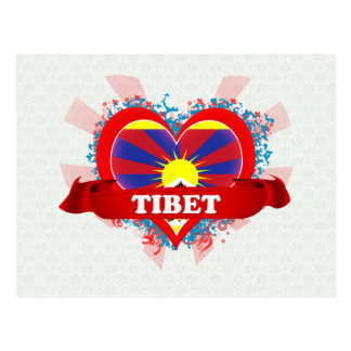 Vintage I Love Tibet Postcard