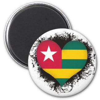 Vintage I Love Togo Fridge Magnet