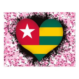 Vintage I Love Togo Postcard