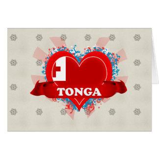 Vintage I Love Tonga Greeting Cards