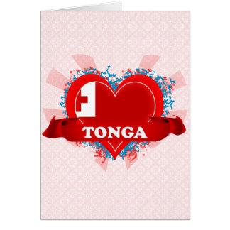 Vintage I Love Tonga Greeting Card