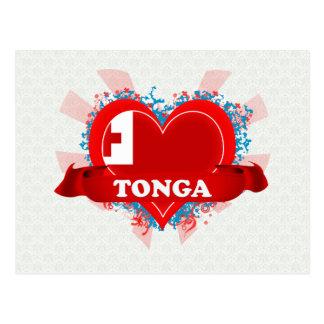 Vintage I Love Tonga Post Card