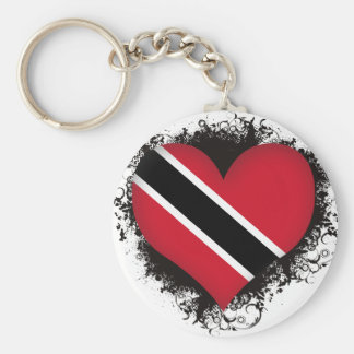 Vintage I Love Trinidad and Tobago Basic Round Button Keychain
