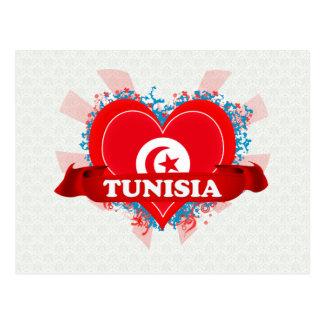 Vintage I Love Tunisia Postcard