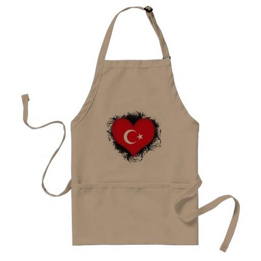 Vintage I Love Turkey Adult Apron