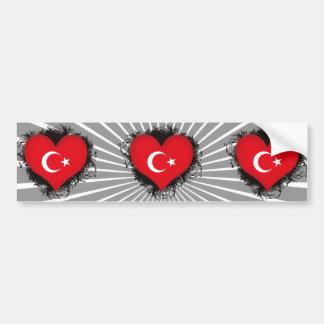 Vintage I Love Turkey Bumper Sticker