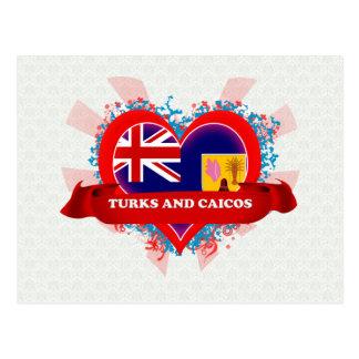 Vintage I Love Turks And Caicos Postcards