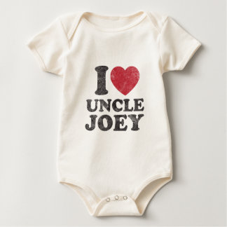 Vintage I Love Uncle Joey Baby Bodysuit