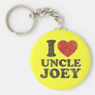 Vintage I Love Uncle Joey Keychain