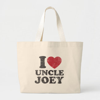 Vintage I Love Uncle Joey Large Tote Bag