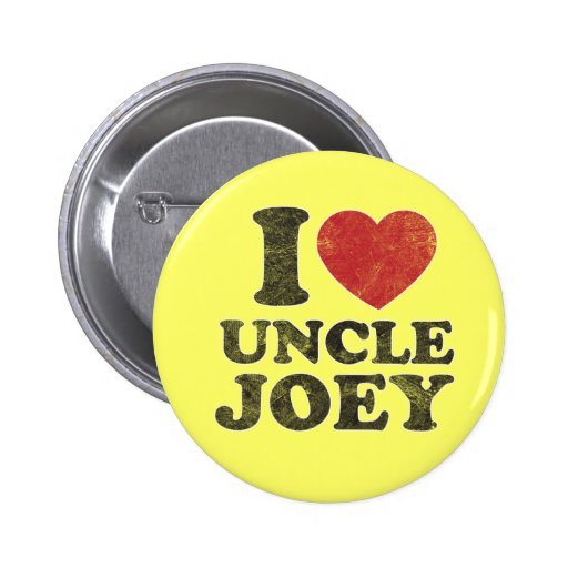 Vintage I Love Uncle Joey Pin