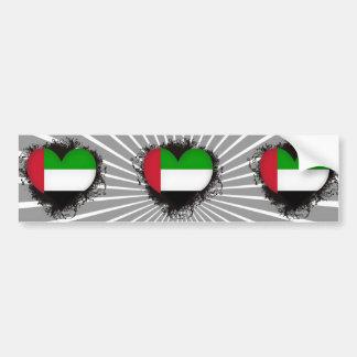 Vintage I Love United Arab Emirates Bumper Sticker