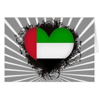 Vintage I Love United Arab Emirates Card