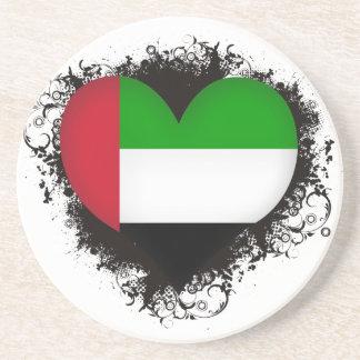Vintage I Love United Arab Emirates Coaster