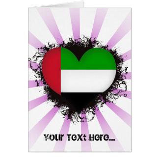 Vintage I Love United Arab Emirates Greeting Card