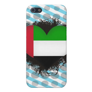 Vintage I Love United Arab Emirates Cover For iPhone 5