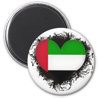 Vintage I Love United Arab Emirates Refrigerator Magnet