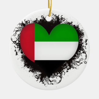 Vintage I Love United Arab Emirates Christmas Ornaments