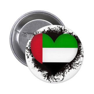Vintage I Love United Arab Emirates Pinback Button