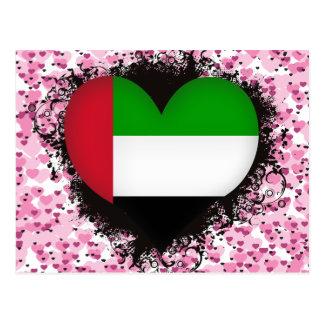 Vintage I Love United Arab Emirates Postcard