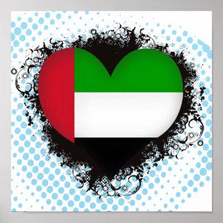 Vintage I Love United Arab Emirates Poster