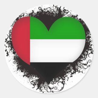 Vintage I Love United Arab Emirates Stickers