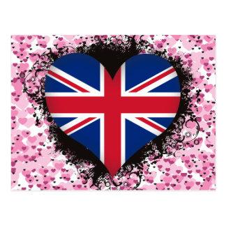 Vintage I Love United Kingdom Postcards