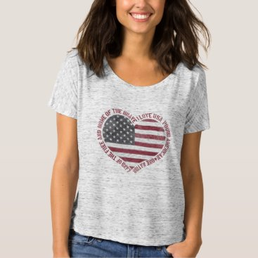 USA Themed Vintage I Love USA Heart T-Shirt