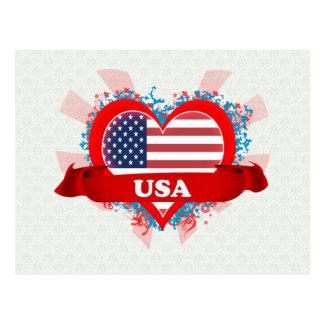 Vintage I Love Usa Postcard